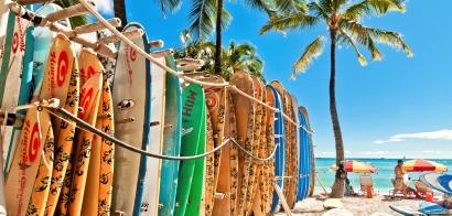 The islands of Hawaii...